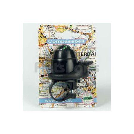 Fietsbel Mini Ping Kunstof met Kompas Zwart Widex