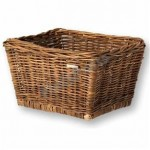 Transportdrager Mand Riet Taps Toelopend Brown Basil Dalton 44x33x25cm