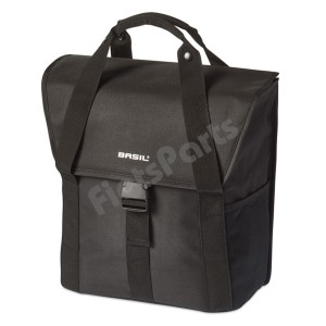 Enkele Fietstas Basil Go Single Bag Solid Black Inh. 16 Ltr