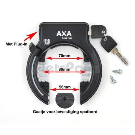 Ringslot AXA Solid Plus Zwart met Plug-in Optie