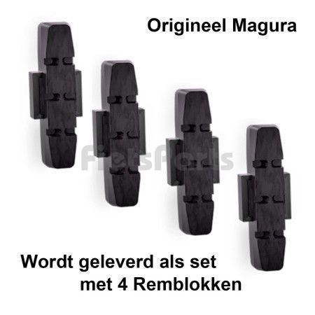 Remblokjes Magura Velgrem Zwart 4 stuks Origineel HS11 / HS33