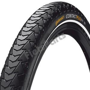 Buitenband 28 x 1 5/8 x 1 3/8 (37-622) Continental Contact Plus Zwart Refl.