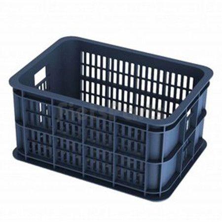 Basil Fietskrat Small Bluestone (Blauw) 40x29x21cm 25 Ltr. Kunststof