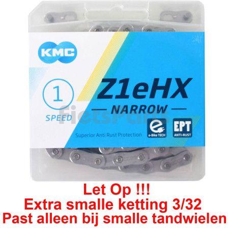 Fietsketting voor Fiets Zonder Derailleur KMC 1/2 x 3/32 Z1eHX Narrow EPT