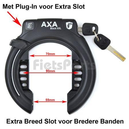 Ringslot Axa Block XXL Extra Breed Zwart
