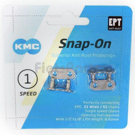 Verbindingsschakel voor 1/8 Fietsketting KMC Snap-On EPT (Universele Standaard Maat)