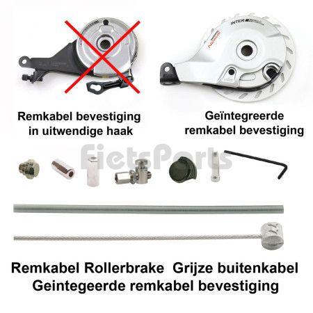 Remkabel Kit voor Shimano Rollerbrake Grijs Geintegreerde Bevestiging