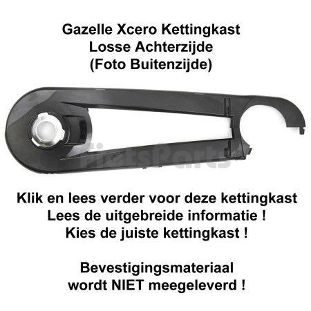 Gazelle Xcero Kettingkast Achterzijde Glanzend Zwart (001)