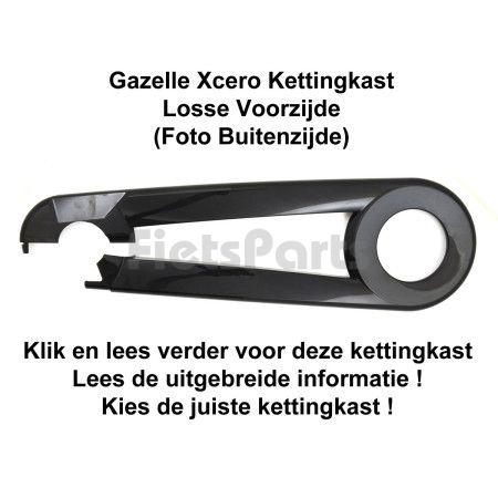 Gazelle Xcero Kettingkast Voorzijde Glanzend Zwart (001)