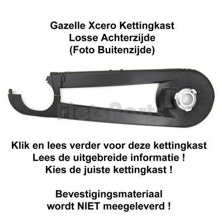 Gazelle Xcero Kettingkast Achterzijde Mat Zwart (001)