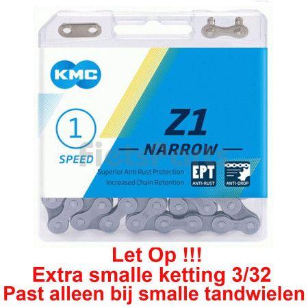Fietsketting voor Fiets Zonder Derailleur KMC Z1 Narrow EPT 1/2 x 3/32 - 112 Sch.