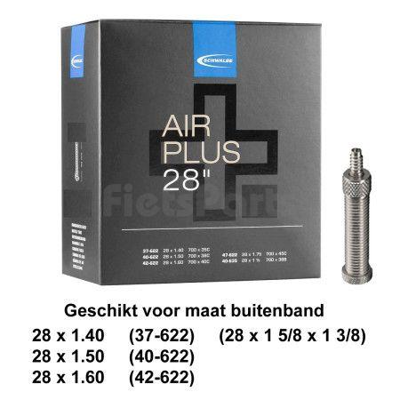 Binnenband 28 x 1 5/8 x 1 3/8  (37/42- 622) Schwalbe Air Plus Holland Vent. 40 mm
