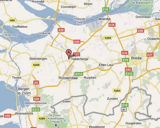 Landkaart omgeving FietsParts.nl Oud Gastel