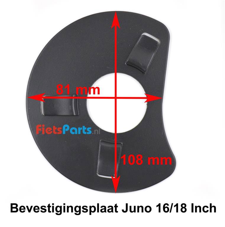 Hesling Juno 16 Inch kettingscherm  bevestigingsplaat