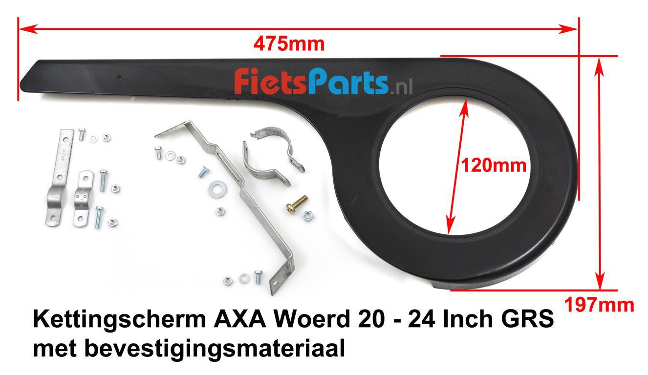 AXA - Woerd GRS 20 - 24 Inch kettingscherm kinderfiets