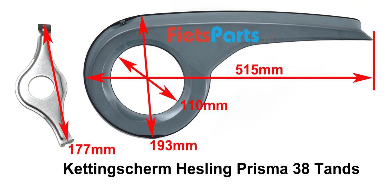 Hesling Prisma 38 tands kettingscherm kinderfiets