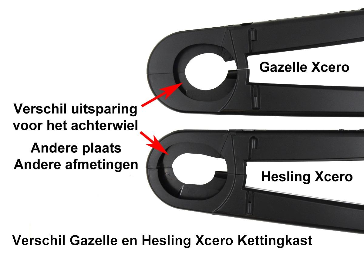 Verschil Gazelle en Hesling Xcero kettingkast.