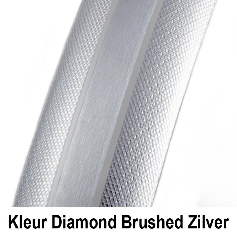 Kleur Gazelle SKS kunststofspatbord Diamond Brushed Zilver