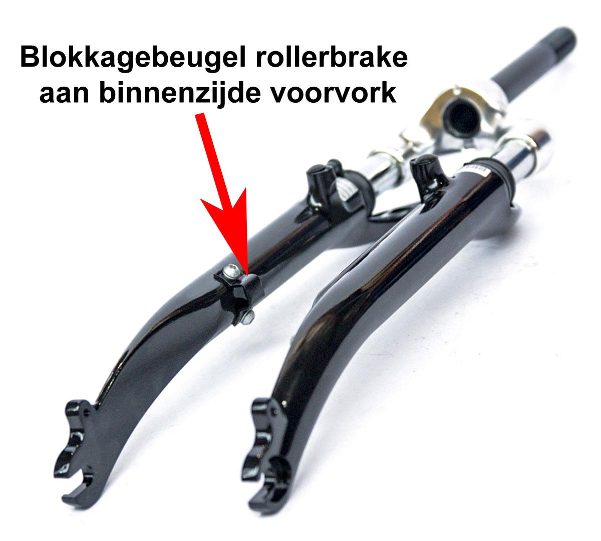 Blokkagebeugel Shimano rollerbrake binnenzijde voorvork