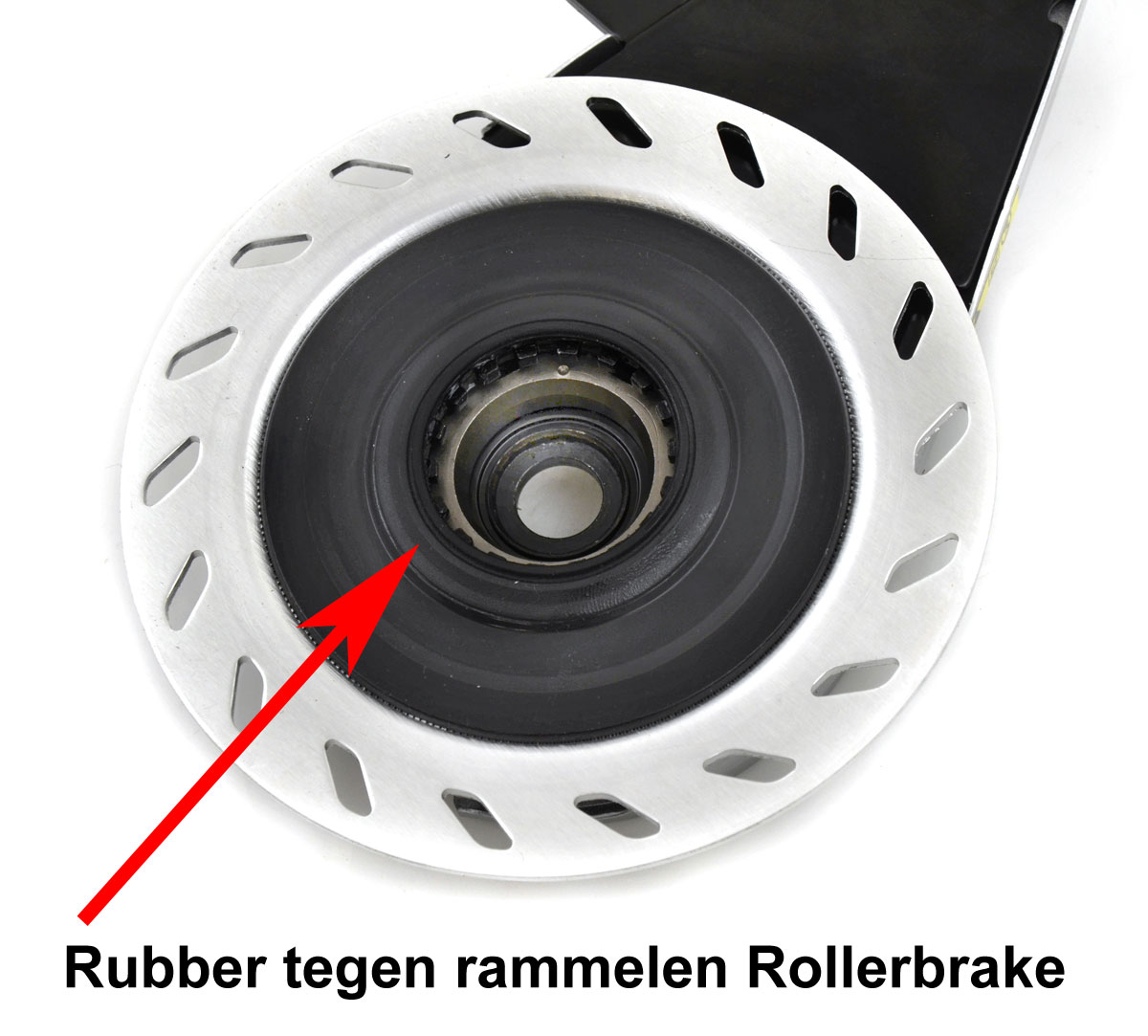 Rubber op Shimano rollerbrake tegen rammelen