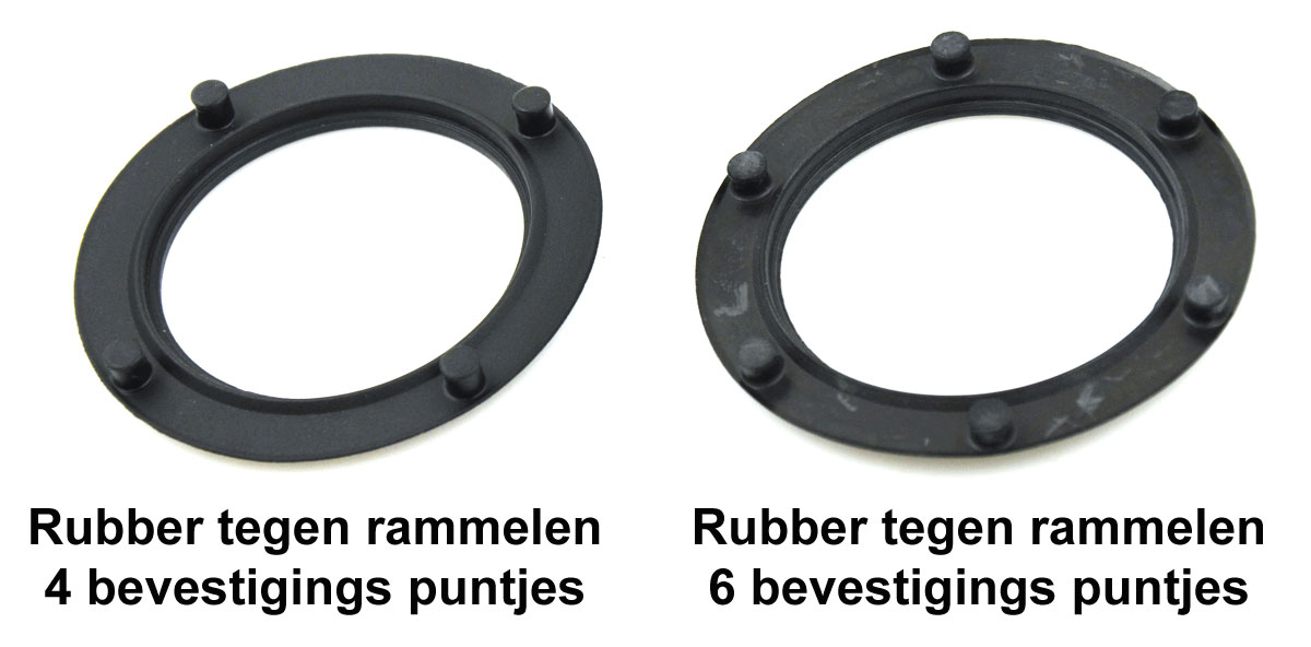 Rubber tegen rammelen Shimano Rollerbrake